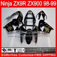 ingrosso zx9r 1998 carenatura-8Gifts 23Colors Per KAWASAKI NINJA ZX 9 R ZX9R 98 99 00 01 900CC Golden nero 48HM1 ZX 9R ZX900 ZX900C ZX-9R 1998 1999 2000 2001 Kit carenatura
