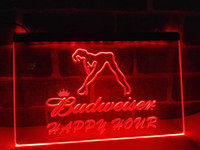 Wholesale Hours Sign - LA627r- Budweiser Sexy Dancer Happy Hour Bar LED Neon Sign