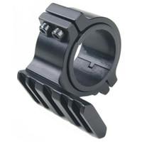 picatinny umfang adapter großhandel-25,4mm / 30mm Ring 20mm Weber Picatinny Schiene Barrel Mount Adapter feste Taschenlampe Laser Scope Jagd
