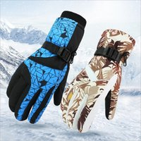 Wholesale Waterproof Warm Gloves For Women - Waterproof Warm Skiing Gloves Windproof Non-slip Wear-resisting Motorcycle Cycling Biking and Mountaineering for Men and Women Free Shipping