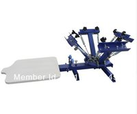 Wholesale T Shirts Screen Printing Machine - FAST and FREE shipping! 4 color 1 station silk screen printing machine t-shirt printer press equipment carousel