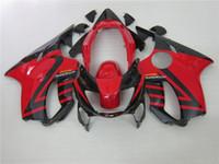 kits de corpo honda fit venda por atacado-100% kits ajuste Injecção carenagem para Honda CBR600 F4 1999 2000 carenagens do corpo de reposição preto vermelho definidos CBR 600 F4 99 00