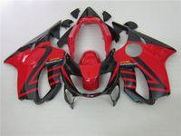 Wholesale honda fit body kits - 100% fit Injection fairing kits for Honda CBR600 F4 1999 2000 red black aftermarket body fairings set CBR 600 F4 99 00
