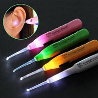 Wholesale Dig Tool - Ear Wax Remove LED Flashlight EarPick Cleaner Curette Electric ear cleaning device dig ear massage Tool
