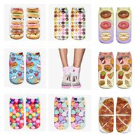 Women space socks - 11 colors Space cake Graphic D Full Print Women Cute Unisex Low Cut Ankle Socks Multiple Colors Cotton Sock Casual Hosiery