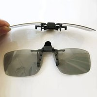 Wholesale People Clips - Wholesale- Clip-on Polarized 3D Glasses for Prescription People Watching Passive 3D TVs and RealD 3D Cinema System