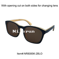 Wholesale Large Bamboo Paintings - new style large black painted bamboo sunglasses