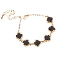 Wholesale Acrylic Rhinestones Chain - Bracelets & Chains leaf black white Fashion Jewelry Alloy Hot short necklace for women 2017 NEW love 15 cm Adjustable accessories wholesale