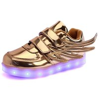 Wholesale Kids Led Shoes For Children Party and Sport Casual Multi Wings Shoes Colorful Glowing Baby Boys and Girls Charging Light up Shoes