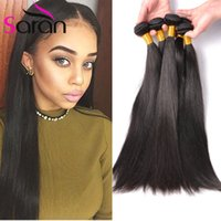 Cabello Liso Brasileño Unprocessed Cabello Humano Tejido Bundles 8A Brazillian Peruvian Indian Malaysian Cambodian Hair Extensions Natural Color