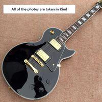 Wholesale Professional Oem - Gisten 1958 black Gold hardware LP electric guitar OEM logo free shipping