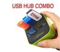 venta de tarjetas mmc al por mayor-Hot Sales 3 port usb hub 2.0 HUB con lector de tarjetas micro micro para SD / MMC / M2 / MS / MP Pro Duo 10631