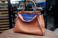 Wholesale Brown Italian Leather Handbag - 2017 new High quality top qualith Italian brand classic Pee kaboo 34cm real leather tote bag genuine leather women handbags shoulder bags