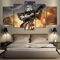 Wholesale Cheap Canvases For Painting - Drop Shipping 5 Piece Star Wars Home Wall Decor Canvas Picture Art HD Print Painting On Canvas for Living Room-Large Canvas Art Cheap