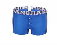 Wholesale Leopard Print Underwear For Men - Cuecas Mens Underwear Men's Underpants Home Furnishing Cotton Bag Built-in Low Waist Shorts Button Boxer For Men