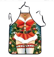 Wholesale Sexy Girl Santa - Christmas decorations Aprons 3 style choose Santa Claus Sexy girl Aprons 54*72cm party Funny aprons Christmas gifts