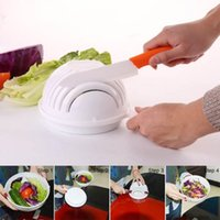 Wholesale Fast Fresh - Salad Cutter Bowl Vegetable Cutter Bowl Eco-Friendly Kitchen Tools Healthy Fresh Salad Maker Salad Chopper Practical Fast And Easy To Sli