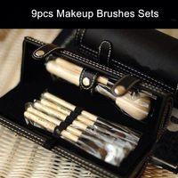 Wholesale Make Up Brushes Mirror - Bob 9pcs Nake Makeup Brushes Sets Cosmetic Foundation BB Cream Powder Blush Eyeshadow Lip Make Up Brush With Mirror
