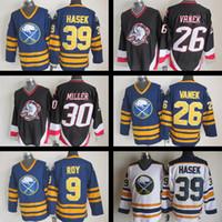 Wholesale Roy Jersey - buffalo sabre jersey #26 Thomas Vanek #30 Ryan Miller #39 Dominik Hasek #9 Derek Roy Hockey Jerseys Vintage nhl cheap ice hockey jerseys