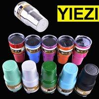 Wholesale Double Wall Beer - 20oz 30oz yiezi Cups Cooler yiezi Tumbler Travel Vehicle Beer Mug Double Wall Bilayer Vacuum dhl free OTH242
