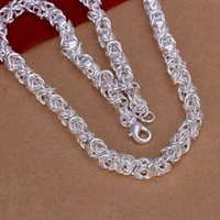 Wholesale Pendant Dragon Silver 925 - Wholesale- fashion jewelry Necklace pendants Chains, 925 jewelry silver plated necklace Dragon Head Shrimp Lock Necklace tqgn nlhe