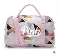 Wholesale Wholesale Canvas Travel Bags - Women Bags Handbags Fashion Love VS Pink Famous Brand Canvas Large Capacity Travel Duffle Sports Travel Beach Bag DHL Free Shipping