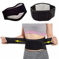 Wholesale Self Heating Tourmaline - Adjustable Tourmaline Self-heating Magnetic Therapy Waist Belt Lumbar Support Back Waist Support Brace Double Banded aja lumbar