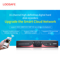 Wholesale 16ch Security Cctv - LOOSAFE LS-5016NVR 16CH Security CCTV Video Recorder NVR H.264 P2P HDMI Phone Control HD 1080P DVR Surveillance System