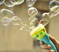 Wholesale Bubbles Guns - 2017 Kids Bubble Blowing Electric Toys Bubble Gun Bubble Automatic Water Control on-sale