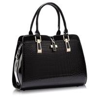 Wholesale Vintage Patent Leather Bags - women leather handbags leather women bag patent handbag