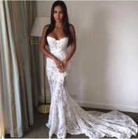 Wholesale See Through Top Wedding Dresses - Bridal Gowns Latest Design Custom Made 2017 Mermaid Lace Wedding Dresses Sexy See Through Top Selling Sleeveless Fashionable