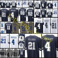 Wholesale Footballs Bryant - Cheap #21 Ezekiel Elliott jersey Men's 50 Sean Lee 88 Bryant 82 Jason Witte jerseys 4 Prescott 2017 Salute to Service Jersey