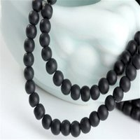 Wholesale Dull Agate - Round Black Stone Beads DHL Dull Matte Onyx Agate 10mm Loose Beads for Jewelry Making DIY Designer for Women Men Xmas Gift Decoration