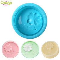 Delidge 20pcs English Four Leaf Clover Cake Soap Moule Silicone Moule À Soie À La Moule Moon Cake DIY Chocolat Aux Fruits De Pudding Moules