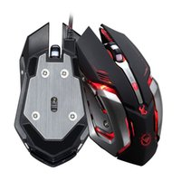 Wholesale Programming Games - RAJFOO Gaming Mouse Ajustable 3200DPI 6 Buttons Optical Macro Programming USB Game Mouse Gamer 4 Color Breathing Variable Lights