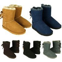 Wholesale Green Flocking - Hot Sale New WGG Women's Australia Classic tall Boots Women girl boots Boot Snow Winter boots fuchsia black blue red leather shoes