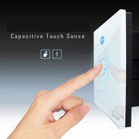 Wholesale time control switch - Itead Sonoff Wifi Switch Wall Touch Switch Wireless Remote Control EU US Glass Panel 1way Timing Switch smart Home Automation