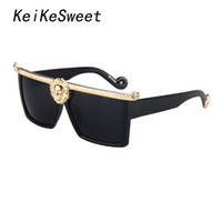 Wholesale Vintage Glass Head - Wholesale-KeiKeSweet European Ladies Wild Lions Head Queen Oversized Women Sexy Sun Glasses Vintage Super Stars Brand Designer Sunglasses