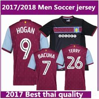 Wholesale Aston Red - best Thai quality 2017 2018 Aston Villa soccer jersey 17 18 Aston Villa soccer jersey TERRY home football jerseys shirt