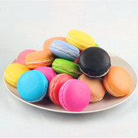 Wholesale Dessert Toys - Slow Rising Kawaii Soft Squishy Macaron Dessert Cake Cute Cell phone Straps Kids Toys Gift Charms Cream Bread Scented