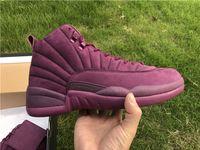 Wholesale Art Summer School - 2017 The Hottest Public School PSNY x Air Retro 12 Bordeaux And Burgundy PSNY Purple Retros 12s Wine red Mens Basketball Shoes US 8-13