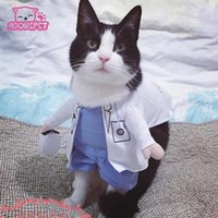 Wholesale Pitbull Jacket - Funny Halloween pet cat dog doctor costume cosplay spring small medium dog puppy party jacket clothing dog clothes for Pitbull