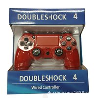 Wholesale Gamecube Consoles - PS4 Wired Game Controller Camoflage Joystick Game Pad Double Shock universal USB Controller Console Gamecube for Video Games