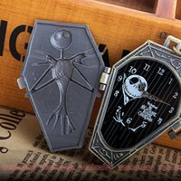 Wholesale Mens Pocket Watches Sale - Wholesale-2016 New Arrival Top sales The Nightmare Before Christmas Jack Skull Skeleton Quartz Pocket Watch Mens Lady Halloween Gifts P304