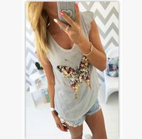 Women bling tees - 2017 Fashion summer T shirt Women Bling Sequined D Butterfly V Neck Petal Sleeve Camisetas Mujer Casual Tee Shirt Femme