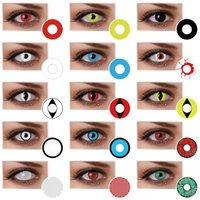 Cat Eye black wolf animal - Large Stock Cat Eye Dragon Eye Crazy Lens Halloween and Cosplay contacts