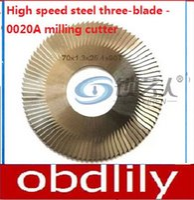 Wholesale Key Cutter Machine Blade - Raise High speed steel three-blade -0020A milling cutter For WenXing Key Cutting Machine 100D,100E,100E1,100F -0020A locksmith