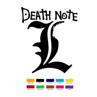 Wholesale note windshield - Death Note L Car Sticker For Truck Window Bumper Auto SUV Door Laptop Kayak Vinyl Decal Motorcycle Exterior Accessories JDM