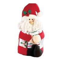 Wholesale Christmas Decoration Santa Claus Dolls - Wholesale- Classic Santa Claus&Snowman Christmas Wine bottle doll Hug the bottle figures cover Xmas home decoration drop ship sale