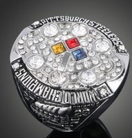 Wholesale R Clustering - New arrival Men fashion sports jewelry 2008 S T E E L E R S Super bowl championship ring fans souvenir gift